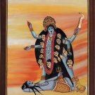 Kali Hindu Goddess Handmade Painting Divine Mother India Religion Spiritual Art