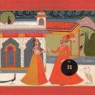 Kota Painting Handmade Indian Miniature Maharajah Maharani Rajasthani Folk Art