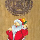 Santa Claus Christmas Painting Handmade Indian Miniature Xmas Holiday Folk Art
