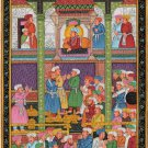 Mughal Empire Miniature Painting Handmade Moghul Dara Shikoh Padshahnama Art