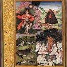 Yoga Mughal Art Handmade Indian Miniature Gulshan Album Decorative Yogi Painting