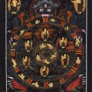 Bhavachakra Mandala Thanka Art Handmade Tibet India Buddha Wall Decor Painting