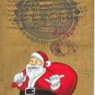 Santa Claus Christmas Gift Art Handmade Indian Miniature Holiday Folk Painting