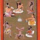 Yoga Saptarishi Art Handmade Indian Miniature Spiritual Yogic Decor Painting