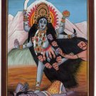 Kali Hindu Goddess Handmade Art Divine Mother India Religion Spiritual Painting