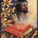 Jesus Christ Bible Art Handmade Christian Oil Canvas Indian Wall Decor Painting