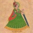 Maharajah Portrait Art Handmade Indian Miniature Rajasthani Royalty Painting