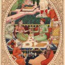 Indian Miniature Mughal Painting Handmade Dara Shikoh Mogul Dynasty Garden Art