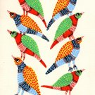 Gond Indian Painting Handmade Madhya Pradesh Tribal Folk Miniature Decor Art