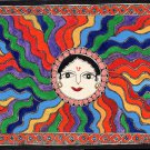 Madhubani Sun God Ethnic Art Handmade Indian Tribal Mithila Bihar Folk Painting