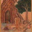 Yoga Sthamba Asana Art Handmade Indian Persian Thambasana Miniature Painting