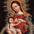 Virgen dela Leche Peruvian Cuzco Art Handmade Nursing Madonna Christian Painting