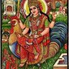Bahuchar Mata Art Hindu Goddess Religious Handmade Watercolor Spiritual Painting