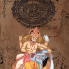 Narasimha Vishnu Avatar Hindu Deity Artwork Indian Religion Spiritual Painting