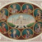 Mughal Dynasty Miniature Art Handmade Mughal Empire Emperor Empress Painting