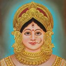 Durga Mother Goddess Painting Handmade Indian Wall Decor Hindu Oil on Canvas Art