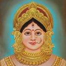 Durga Mother Goddess Painting Handmade Indian Wall Decor Hindu Oil on Canvas Art