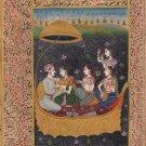 Mogul Miniature Painting Handmade Indian Mughal Emperor Watercolor Ethnic Art