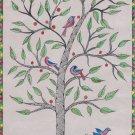 Madhubani Painting Indian Mithila Miniature Handmade Tree of Life Ethnic Art