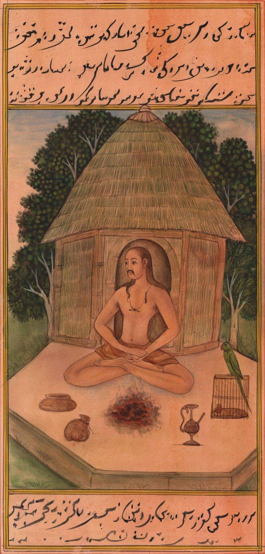 Yoga Asana Art Handmade Indian Persian Miniature Sitali Pranayam Decor Painting