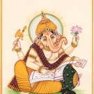 Ganesh Art Handmade Hindu Religion Ganpati Ganesha Ethnic Watercolor Painting