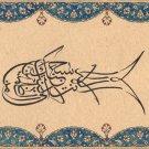 Islamic Calligraphy Drawing Handmade Zoomorphic Turkey Persia Arabia India Art