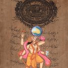 Varaha The Boar Art Handmade Third Incarnation of Vishnu Hindu Deity Painting