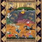 Indian Art Persian Islamic Illuminated Manuscript Handmade Miniature Painting