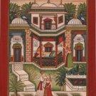 Bundi Palace Art Handmade Indian Miniature Rajasthani Royal Folk Decor Painting