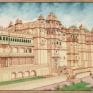 Udaipur City Palace Miniature Art Handmade Rajasthan India Architecture Painting