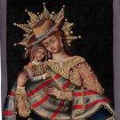 Peruvian Cuzco Art Handmade Andina Oil Canvas Peru Folk Decor Ethnic Painting