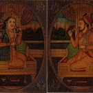 Mughal Portrait Painting Antique Look Moghul Art of Shah Jahan & Mumtaz Mahal