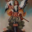 Peruvian Cuzco Art Handmade Archangel Samuel Oil Canvas Peru Folk Decor Painting