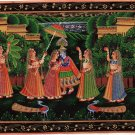 Radha Krishna Folk Art Handmade Indian Hindu Ethnic Religion Miniature Painting