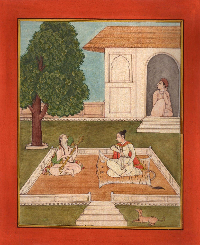 Yoga Saindhavi Ragini Art Handmade Indian Miniature Ragamala Decorative Painting