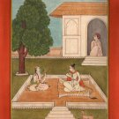 Yoga Saindhavi Ragini Art Handmade Indian Miniature Ragamala Decorative Painting