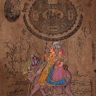 Rajasthan Folk Miniature Painting Handmade Dhola Maru Indian Ethnic Decor Art