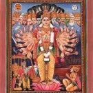 Krishna Vishvarupa Mahabharata Painting Handmade Vishnu Vishwaroopa Indian Art