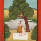 Yoga Yogini Ragini Art Handmade Indian Miniature Ragamala Decorative Painting