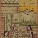 Mughal Miniature Art Handmade Moghul Harem Islamic Script Paper Decor Painting
