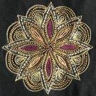 Kolam Embroidery Artwork Handmade Indian Irula Tribe Decor Purse Handicraft