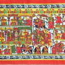 Indian Phad Art Handmade Miniature Scroll Decor Ethnic Rajasthan Folk Painting