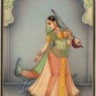 Kakubha Ragini Rajasthani Miniature Art Indian Ethnic Handmade Ragamala Painting