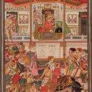 Mughal Miniature Painting Handmade Jahangir & Prince Khurram Moghul Empire Art
