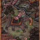 Mughal Empire Royal Hunt Art Handmade Indian Miniature Moghul Dynasty Painting