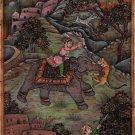 Mughal Empire Royal Hunt Art Handmade Indian Miniature Moghul Dynasty Painting