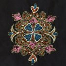 Kolam Pattern Embroidery Handicraft Handmade Indian Irula Tribe Decor Artwork