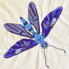 Butterfly Kolam Embroidery Art Handmade Indian Irula Tribe Nature Handicraft