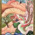 Persian Painting Rare Darab-Nama Shah Ardhashir Handpainted Watercolor Folk Art