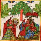 Rajasthani Phad Painting Handmade Indian Folk Miniature Maharajah Maharani Art